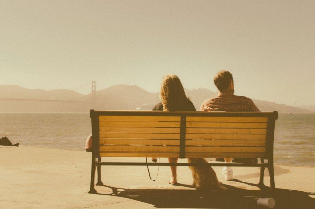 couple looking at horizon